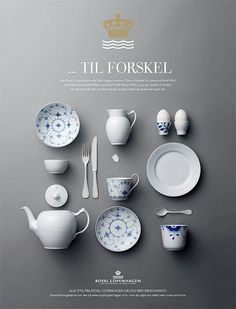 Another good ad layout for the silverware idea. This ad is for a classy company. If I use this same idea I could have the silverware set up the formal way on a table with the classy company logo hidden on the folded napkin