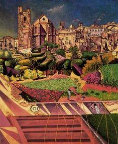 Montroig, la Iglesia y pueblo el - (Joan Miro)