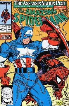 Captain America & Spider-Man by Todd McFarlane on The Amazing Spider-Man, Marvel Comics