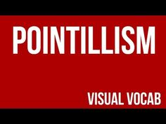 Pointillism defined - From Goodbye-Art Academy - YouTube