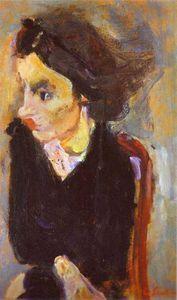 Mujer en Perfil (Retrato de Madame Tennent) - (Chaim Soutine)