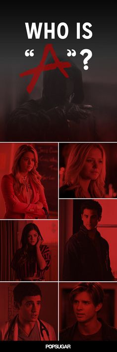 """Who Is """"A""""? The Most Up-to-Date List of Suspects on Pretty Little Liars. I personally think it has to be one of the girls. Abc Family, Ashley Benson, Pll Quotes, Pll Memes, Preety Little Liars, Pretty Little Liars Quizzes, Step Up Revolution, Chad Michael Murray, Best Shows Ever"""