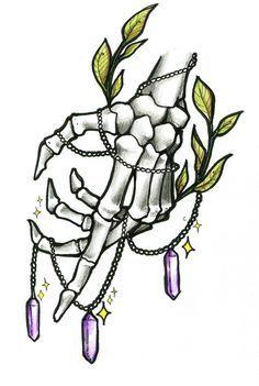 Tattoo hand skeleton