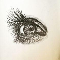 Eye. Drawing. Black and white.