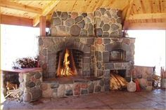 outdoor fireplace & pizza oven designs | oven that echos the design and detailing of the rumford firebox ...