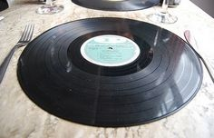 50's party theme use records on walls on table.  Try making bowls with them.