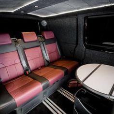The Manuello's VW Caravelle Conversion - New Wave Custom Conversions Land Rover Defender, Vw Transporter Sportline, Vw T5 Interior, Ford, Conversation, Waves, Campervan, Volkswagen, Motorhome