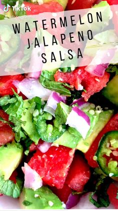 This simple salsa is perfect to top any lean protein and serve with some tasty blue corn tortilla chips. It is like the taste of summer in a bowl with a hint of spice!
