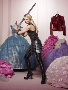 Once Upon a Time Jennifer Morrison as Emma Swan The Savior Holding Sword by Princess Dresses Looking at Camera 8 x 10 Photo Jennifer Morrison, Emma Swan, Fanart, Time Photo, Captain Swan, Look At You, Once Upon A Time, Season 2, Favorite Tv Shows