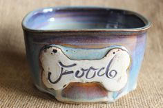 Hey, I found this really awesome Etsy listing at https://www.etsy.com/ca/listing/506621651/seconds-ceramic-small-dog-food-bowl