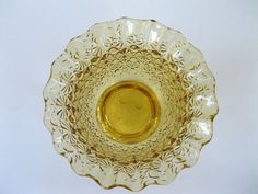 Fenton Amber Daisy and Button Bowl Footed by TheSnapDragonsLair