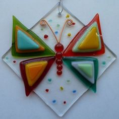 Butterfly Fused Glass Suncatcher