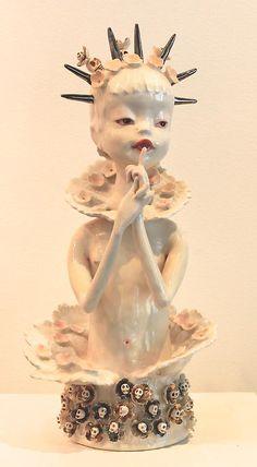 Clairy Laurence Ceramics Sculpture Art, Ceramic Sculptures, Bowl Light, Celtic Mythology, Sculpting, Shapes, Pixies, Porcelain, Felt