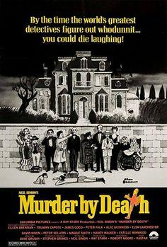 Murder by Death Poster//Murder by Death Movie Poster//Movie Poster//Poster Reprint 1976 Movies, Top Movies, Nancy Walker, Murder By Death, Witness For The Prosecution, Netflix, Edge Of Tomorrow, Peter Falk, Alec Guinness