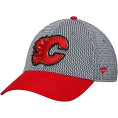 bd192da9c5f Men s Calgary Flames Fanatics Branded Gray Breakaway - Flex Hat