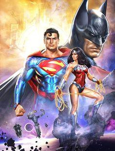 Superman Wonder Woman Batman