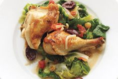 Fold in raisins and olives before serving this one-pot dish to add a final burst of sweetness and brininess. Get the recipe for Braised Chicken With Escarole, Tomatoes, and Olives.