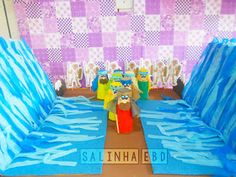 Salinha EBD: Travessia do Mar vermelho Kids Sunday School Lessons, Sunday School Crafts For Kids, Bible Stories For Kids, Bible For Kids, Islam For Kids, Bible Activities, Dramatic Play, Kirchen, School Projects