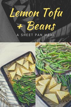 Lemon Tofu and Beans is a one-pan meal that the entire family will enjoy. The tofu is baked to the perfect tenderness and lightly seasoned with fresh lemon juice. Tofu Recipes, Vegetarian Recipes, Healthy Recipes, Delicious Recipes, Other Recipes, Free Recipes, Easy Recipes, Marinated Tofu, Grilled Tofu