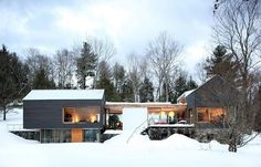 Depot House by Gray Organschi Architecture This house is just enchanting against the snow and trees!