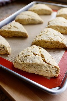 Maple Oat Nut Scones - super buttery and amazing even without the glaze (make 12 instead of 8 next time... these guys were beasts!)