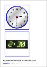 Analogue & digital half-past time