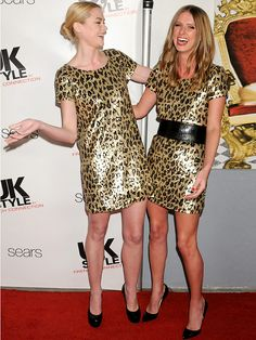 1dd8bdc859 Nicky Hilton Jaime King Same Dress Leopard Print Jaime King