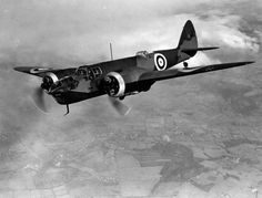 Bristol Blenheim Mk IV L4842 being flown by test pilot Bill Pegg near Filton, 29 May 1939. The aircraft served with No. 53 Squadron and was shot down on 17 May 1940 over France.