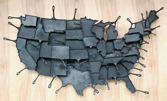 cast iron pans shaped like your favorite U.S. state. #designboom
