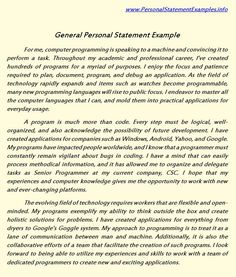 personal statement examples | sample personal statements | grad ...
