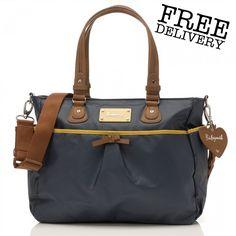 266716d0b784 Storksak® Babymel™ Lily Diaper Bag in Navy Baby Nappy Bags