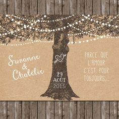 Le petit faire-part de Nelly / faire part de mariage / wedding invitation