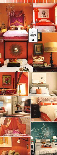 Orange bedroom design guide..