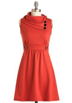 Coach Tour Dress in Tangerine.  This would be so adorable with black heels, black bracelets, a black bag, and a high poufy ponytail. Ahhhh.