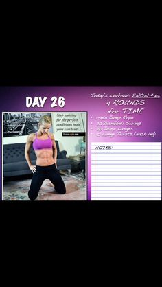 Zuzka #26 Daily Workouts, Body Workouts, Lunges, Workout Programs, Full Body, Calendar, Nutrition, Exercise, Fitness