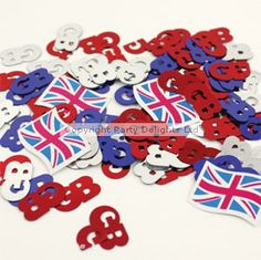 Great Britain Union Jack Table Confetti Foil table Decoration Sprinkles GB Party for sale online Union Jack, British Party, James Bond Theme, Passion Parties, Balloon Banner, Table Confetti, Patriotic Decorations, Decoration Table, E Bay