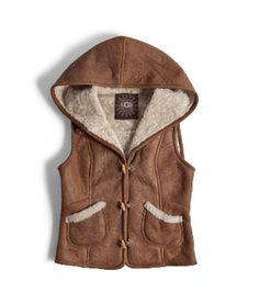 Sheepskin vest w/hood - Think I'll make one for myself!!