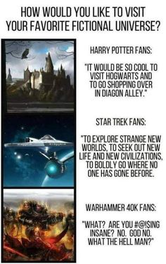 To be honest Warhammer is either my fourth or fifth most favourite fictional universe. maybe six or seventh. Warhammer 40k Memes, Warhammer Art, Warhammer 40000, Nerd Memes, Gaming Memes, Donald Trump, Video Game Memes, Star Trek Enterprise, Star Wars Humor