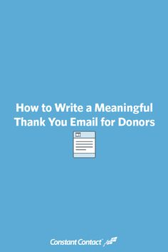 It doesn't matter if you're a startup nonprofit running your first campaign or a historic charity — sending donors a thoughtful thank you message is one of the most important things your organization can do. Thank You Email, Grant Writing, Thank You Messages, Business Tips, Business Opportunities, Professional Development, Non Profit, Good To Know, Making Ideas