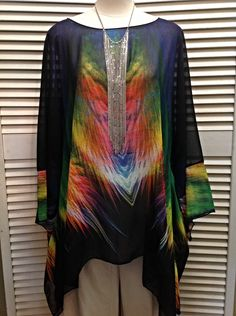 Lior  - Chiffon multicolor tunic  - $119