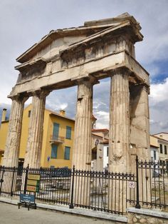 The Gate of Athena, Roman Agora, Plaka, Athens, Greece Ancient Ruins, Ancient Greece, Places To Travel, Places To Visit, Art Antique, Acropolis, Thessaloniki, Athens Greece, Archaeological Site