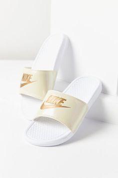 67c3b8b62fdbe Nike Benassi JDI Metallic Slide Sandal