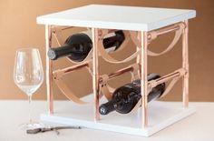 un rangement pour bouteilles de vin, idée diy en tuyau plomberie