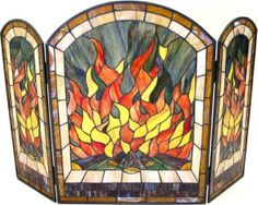 stained glass fireplace screen 58 Best Stained Glass Fireplace Screen images in 2018 | Витражи  stained glass fireplace screen