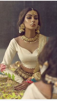 Ali xesshan Pakistani couture - Can we talk about this jewelry for a second? Stunning!! #IndiaBoulevard #indianfashion,