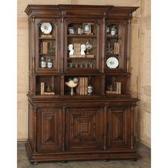 Antique Furniture   Antique Henri II Walnut Bookcase   www.inessa.com