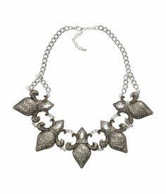 Fleur-de-lis necklace| H&M
