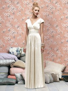 V Neck Gridling Ivory Dresses for Evening Party