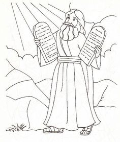 moses and the ten commandments coloring page - Google Search