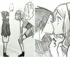 Sakura and Genin Sasuke Anime Naruto, Naruto Funny, Naruto And Sasuke, Naruto Uzumaki, Boruto, Best Anime Couples, Naruto Couples, Naruto Summoning, Sasuke Uchiha Sakura Haruno